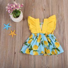 Hello Yellow Lemonade Sundress - Baby girl outfits Source by - Baby Outfits, Little Girl Outfits, Kids Outfits, Dress Outfits, Organic Baby Clothes, Baby Kids Clothes, Summer Clothes, Baby Girl Shoes, Baby Girl Dresses