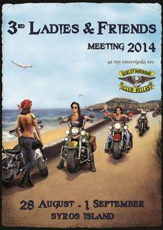 Syros island,ladies bikers meeting 2014