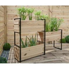 Forest-Style - Enjoy your garden Wood Planter Box, Raised Planter, Wooden Planters, Small Gardens, Outdoor Gardens, Jardiniere Design, Plant Table, Plant Shelves, Hydroponic Gardening