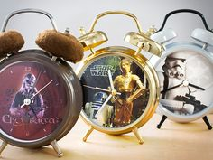 Star Wars Talking Alarm Clocks - the bells do nothing but it talks to wake you up.