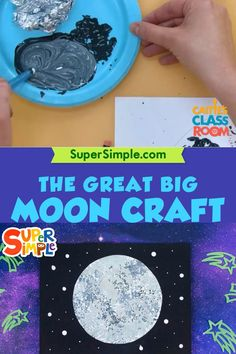 The Great Big Moon Craft - Super Simple Space Theme Preschool, Space Activities For Kids, Moon Activities, Kindergarten Activities, Toddler Activities, Preschool Activities, Space Videos For Kids, Outer Space Crafts For Kids, Space Kids