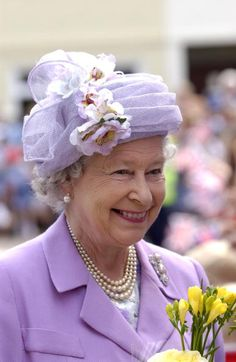 ER hats. Very beautiful style for the Queen Mother hat.