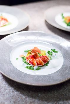 Alain Ducasse & Wolfgang Puck in London. Alain Ducasse, Special Recipes, Great Recipes, Gourmet Recipes, Vegetarian Recipes, Food Garnishes, Garnishing, Romantic Meals, Food Plating