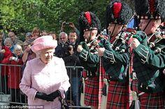Queen Elizabeth II begins her summer break at Balmoral Castle, Scotland. Aug. 7, 2017