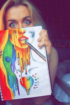 Art, Colours :333 She is cute, it amazing