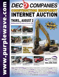 DECO Companies Construction Equipment Auction  August 2, 2012  http://purplewave.co/120802