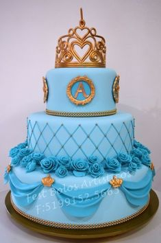 18th Birthday Cake For Girls, 15th Birthday Cakes, Sweet 16 Birthday Cake, Fondant Cakes, Cupcake Cakes, Bolo Tumblr, Navy Blue Wedding Cakes, Quinceanera Cakes, Different Cakes