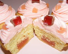 Rosewater Turkish Delight Cupcakes: perfect for a tea party!