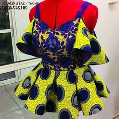 The Tunis Ankara Peplum Top African print Tops Ankara Tops African Fashion Ankara, African Fashion Designers, Latest African Fashion Dresses, African Print Dresses, African Print Fashion, Africa Fashion, African Print Peplum Top, African Prints, African Fabric