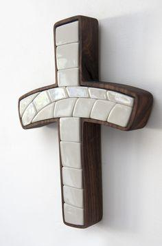 Porcelain, mosaic, walnut Christian modern art,