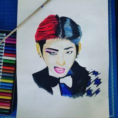 Yes, I am addicted to k-pop   #kpop #zico #blockb #aquarell #watercolor #art #arte #fanart #blockbfanart #instadraw #instaartist #instagood #dailyart
