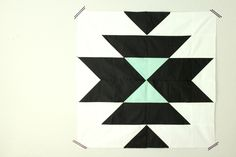 """Super easy (and cute!) """"Squash Blossom"""" block with tutorial by Holly Reid of Holly Gets Quilty."""