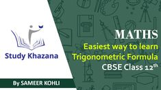 Free Online Bank PO Classes in Delhi, India. Study Khazana offers free online courses and classes for Bank PO and SSC-CGL Exams Preparation. Cbse Class 12 Maths, 12th Maths, Free Courses, Online Courses, Previous Question Papers, Functional Analysis, Trigonometric Functions, Study Materials, Mathematics