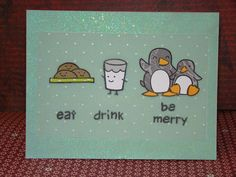 Lawn Fawn- cozy Christmas, critters in the snow: this card is so fun!  eat drink be merry christmas card - ls by samanthamann11, via Flickr