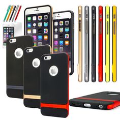 """#ebay Hybrid Shockproof Hard Bumper Soft Case Cover For Apple iPhone 6 4.7"""" 5.5"""" Plus - $8.69 (save 65%) #unbranded #cell #phone"""