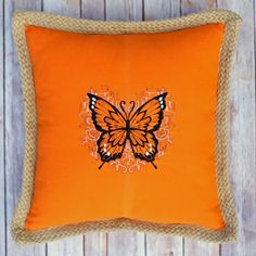 Fly Away with Me monarch butterfly on an orange by mycousinmadeit