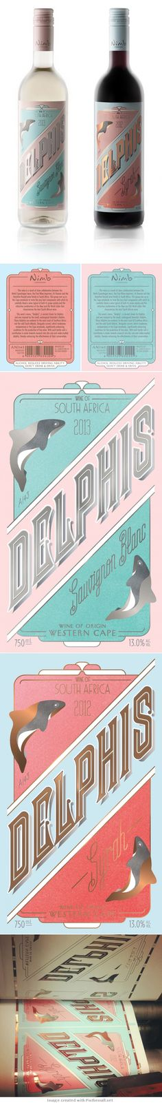Here's more info on the lovely Delphis #wine #label #packaging PD