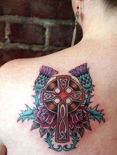 celtic cross tattoo Celtic Cross Tattoos, Cross Tattoo For Men, Cross Tattoo Designs, Tattoo Designs For Women, Cool Shoulder Tattoos, Mens Shoulder Tattoo, Hand Tattoos, Sleeve Tattoos, Cool Tattoos