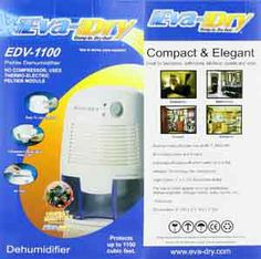 Eva-Dry Electric Petite Dehumidifier will draw humid air over the warm plate and heat the air up, once heated,it moves the air over the cool plate which will draw the condensation trappingit in the removable reservoir and expelling the dry air out.