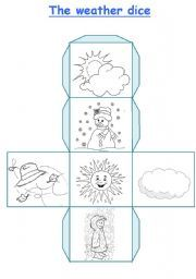 English Worksheets: The weather dice