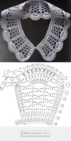 Diy Crafts - Crochet lace collar pattern free knitting ideas for 2019 Crochet Collar Pattern, Col Crochet, Crochet Necklace Pattern, Crochet Lace Collar, Crochet Lace Edging, Thread Crochet, Irish Crochet, Crochet Stitches, Crochet Patterns