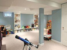 Nice 75 Creative Basement Playroom Design Ideas for Kids https://roomodeling.com/75-creative-basement-playroom-design-ideas-kids