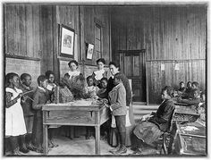 Thanksgiving Day Lesson at Whittier Primary School in Hampton, Virginia - 1899