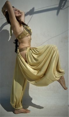 Excited to share the latest addition to my #etsy shop: Gold sparkle Pantaloons, the open hip harem pant.-Bloomers- Wide Leg Pants. Tribal Fusion belly dance https://etsy.me/2KUob38 #clothing #costume #women #gold #tribalfusion #pants #pantaloons #harempants #lurex