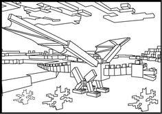 Printable Minecraft Ender Dragon coloring page.