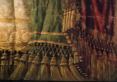 "Detail of theatre curtain detail of painted curtain backdrop for a motion picture production of ""Up Close and Personal"" Full size is about 5..."