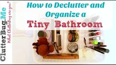 """Want to learn more about home organizing? I just launched my new Organizing Expert Online Course! Save and become a """"Certified Organizational Specialist™. Bathroom Organization, Organization Hacks, Clutter Free Home, Home Management, Clean Freak, Declutter Your Home, Minimalist Bathroom, Easy Projects, Clean House"""