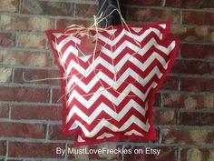 Arkansas Chevron & Burlap Door Hanger on Etsy, $26.00