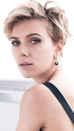coupe courte femme 2018 inspirations capillaires Scarlet Johanson #hairstyle