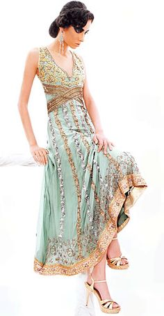 love the colors on this anarkali!