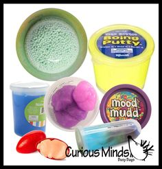 Slime Sampler Bundle - Try out 6 different slimes and putties