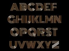 Gold Alphabet designed by Vesna Barlas. Connect with them on Dribbble;