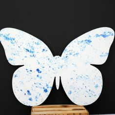 Faux Finish Wood Butterfly just one of the graphics we cut from our customers custom order, email us with your special request......roy@roysigns.com