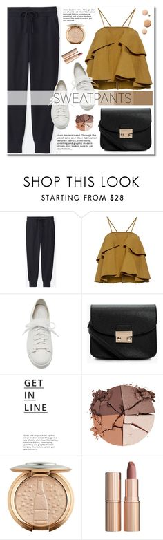 """Comfort is Key: Sweatpants"" by merima-kopic ❤ liked on Polyvore featuring Uniqlo, Rachel Comey, Santoni, Boohoo, Lipsy, lilah b., CC, Charlotte Tilbury, contest and sweatpants"