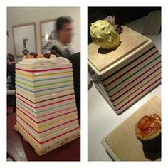 Lima:Astrid y Gaston: most dramatic: 3-tiered ceramic tower of desserts
