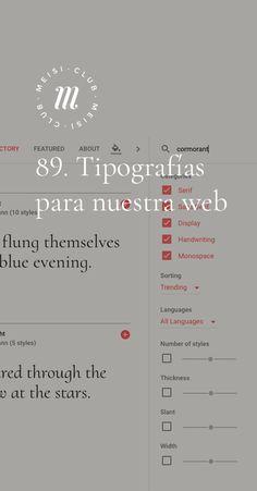 89. Tipografías para nuestra web https://meisi.es