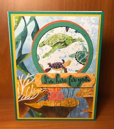 Paper Cards, Stamping Up, Whales, Stampin Up Cards, Turtles, Card Ideas, Nautical, Friendship, Catalog