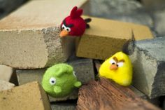 Needle-felted Angry Birds! Thank you, CRAFT.
