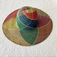 Vintage Accessories | Vintage Woven Sun Hat | Color: Black | Size: Os