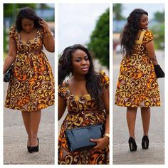 I came across this photo on facebook. She rocks this dress in every way. The dress is very simple and I like that they made it knee length which brought the fashionista out of the dress style. plus size floral dresses