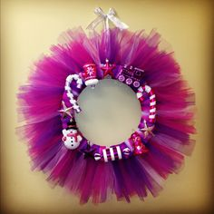 DIY tulle wreath. So adorable for all occasions:) so cheap and inexpensive!!