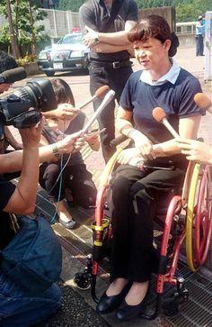 「津久井やまゆり園」を訪れ、犠牲者への思いを話すリオ・パラリンピック日本代表の成田真由美さん=31日、相模原市緑区