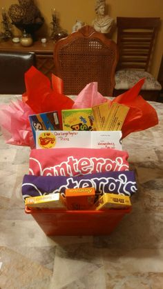 Fundraisers gift basket Movie date night!