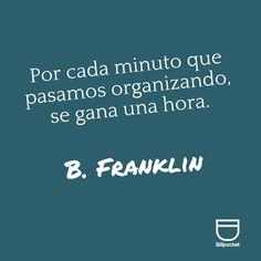 Organizar no es una pérdida de tiempo, es una inversión que te hará más productivo. #Motivación #Éxito #Productividad