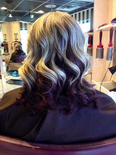 Blonde w/ deep red mahogany, red violet mahogany and medium golden mahogany Mahogany Hair, Dark Mahogany, Gorgeous Hair, Gorgeous Blonde, Hair Color And Cut, Dream Hair, Hair Beauty, Beauty Stuff, Beauty Tips