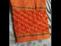 Step by step instructions how to sew designer trouser yourself. Kurti Sleeves Design, Sleeves Designs For Dresses, Sleeve Designs, Latest Dress Design, Stylish Blouse Design, Churidar Neck Designs, Salwar Designs, Lehenga Pattern, Fancy Blouse Designs
